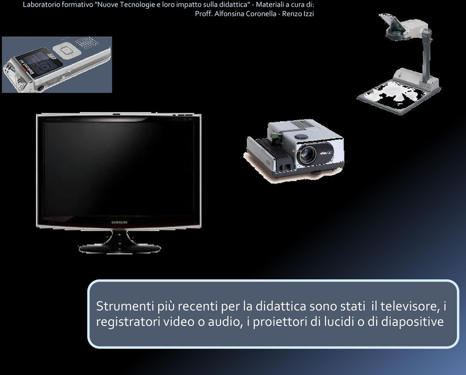 televisore, i registratori video