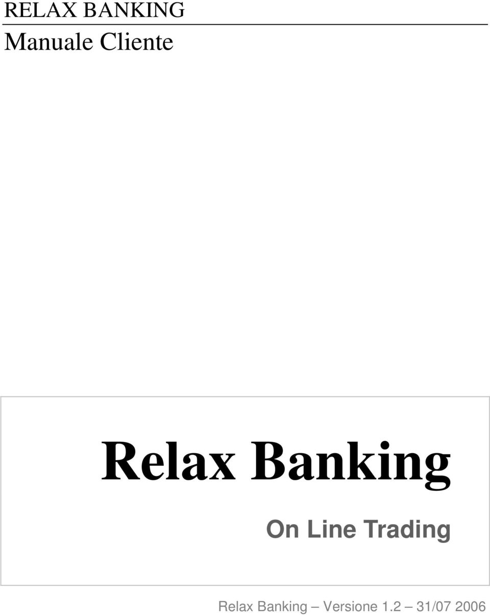 Line Trading Relax