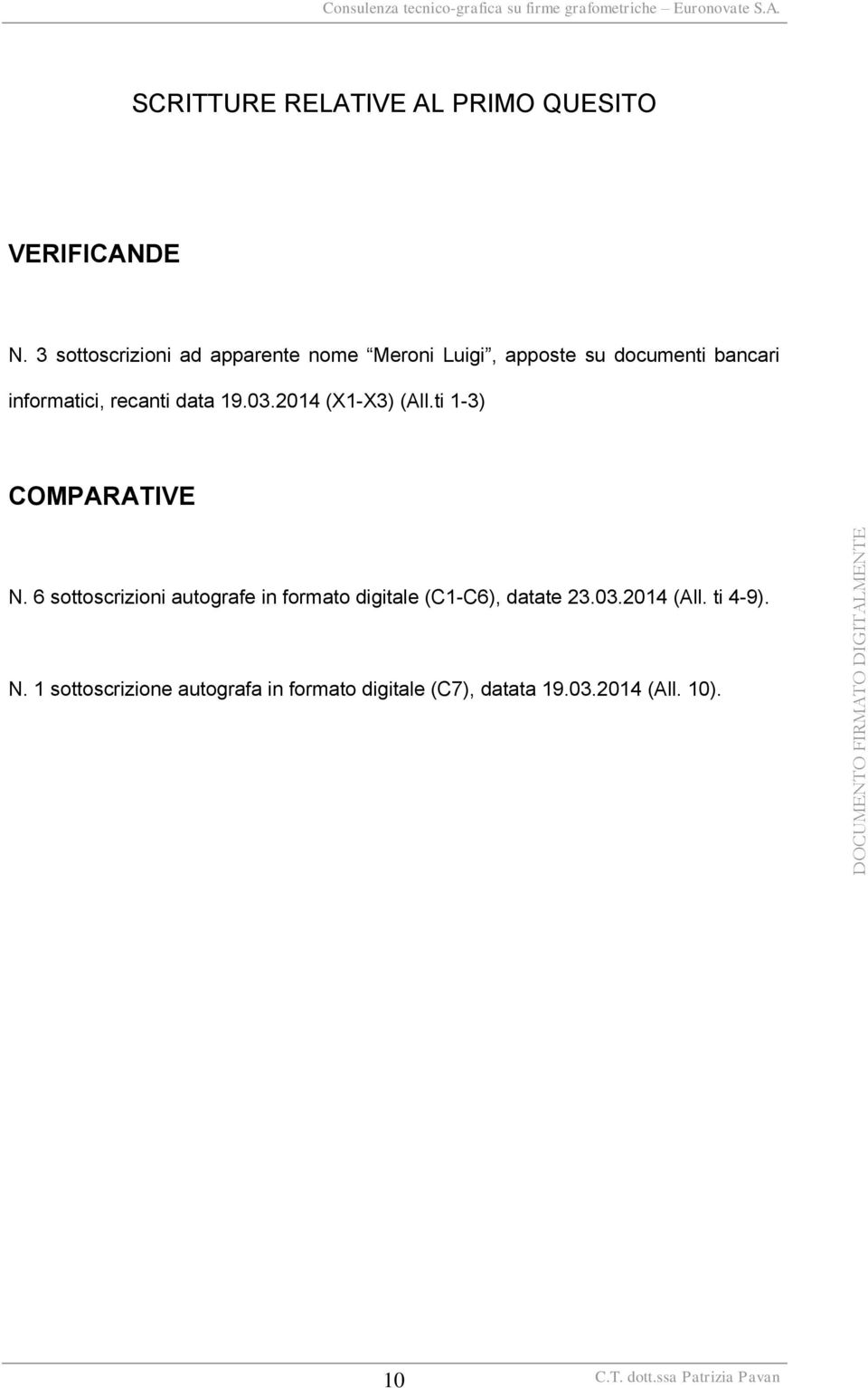 recanti data 19.03.2014 (X1-X3) (All.ti 1-3) COMPARATIVE N.