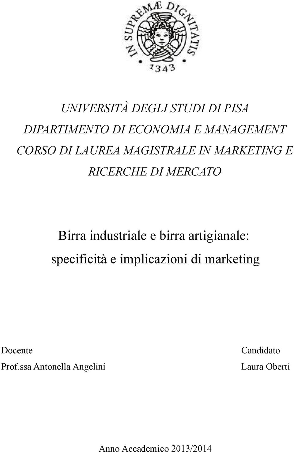 industriale e birra artigianale: specificità e implicazioni di marketing
