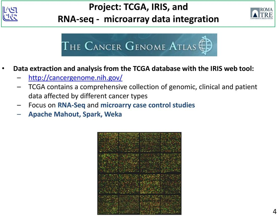 gov/ TCGA contains a comprehensive collection of genomic, clinical and patient data
