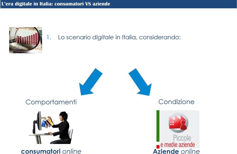 Lo scenario digitale in Italia,