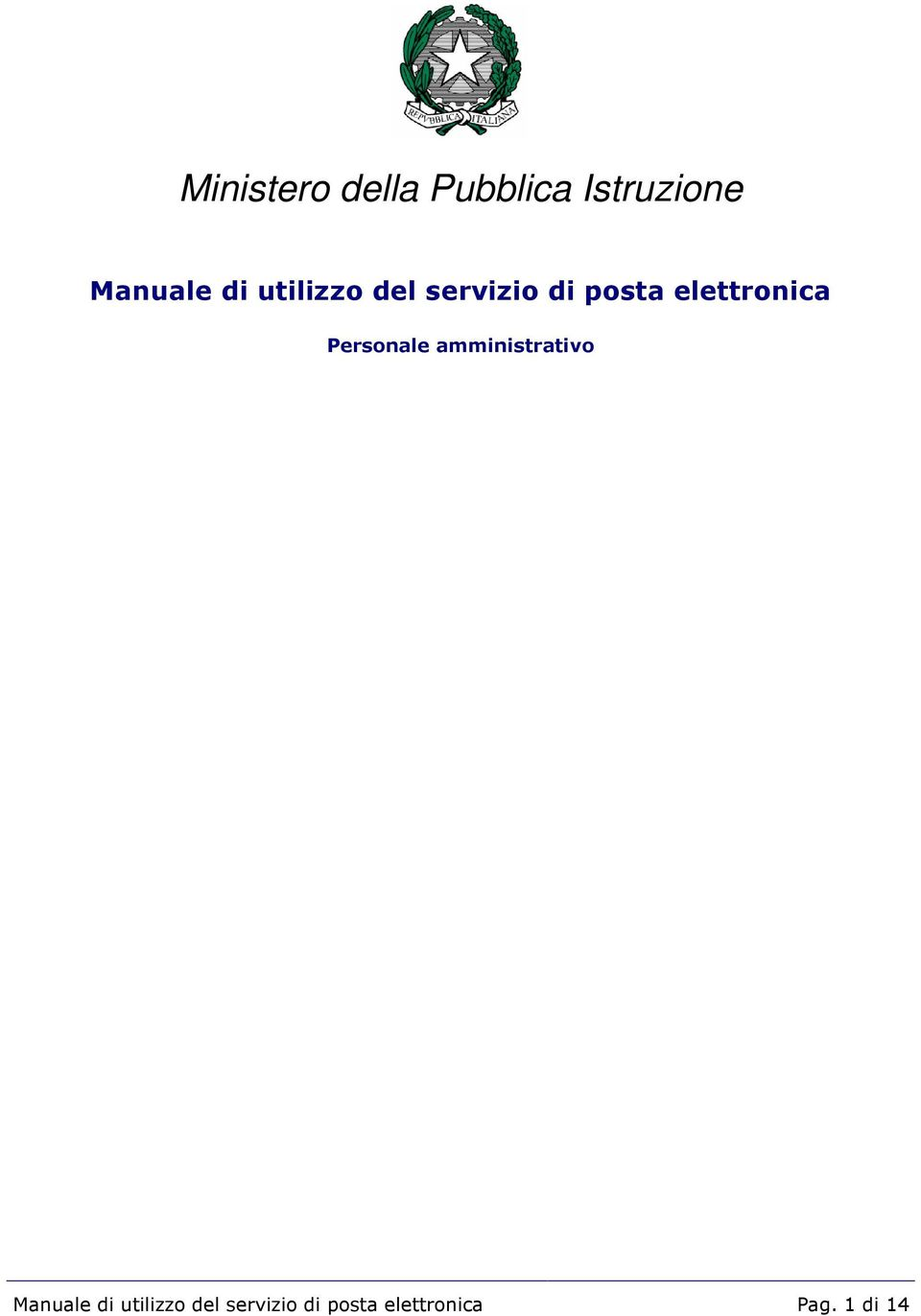 Personale amministrativo Manuale  Pag.