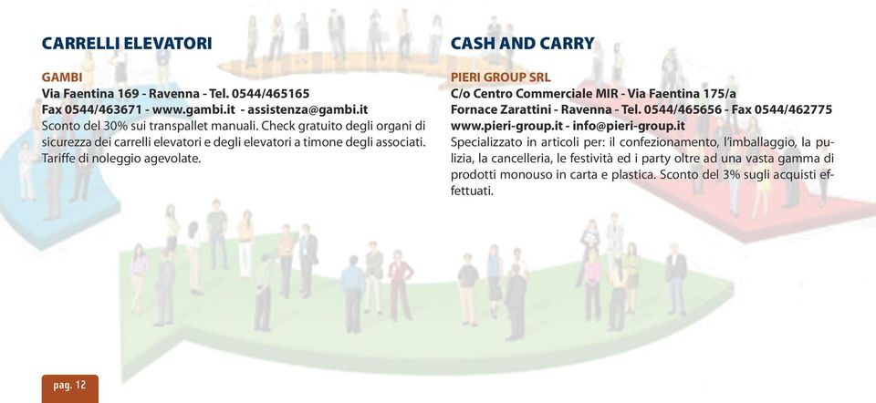 CASH AND CARRY PIERI GROUP SRL C/o Centro Commerciale MIR - Via Faentina 175/a Fornace Zarattini - Ravenna - Tel. 0544/465656 - Fax 0544/462775 www.pieri-group.