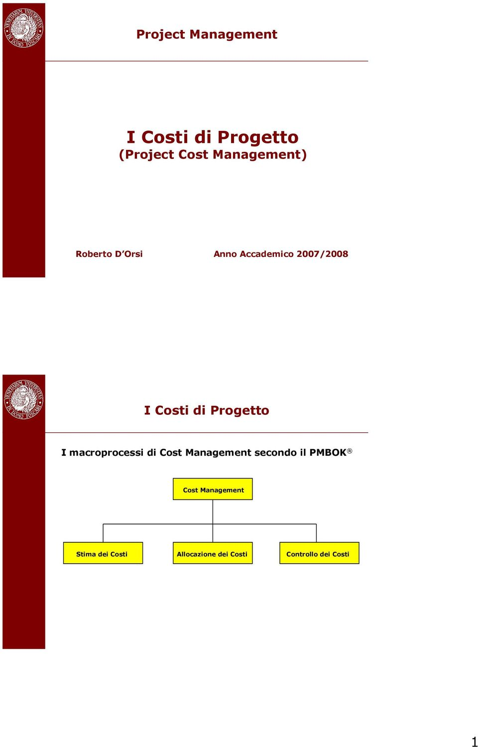 Cost Management secondo il PMBOK Cost Management