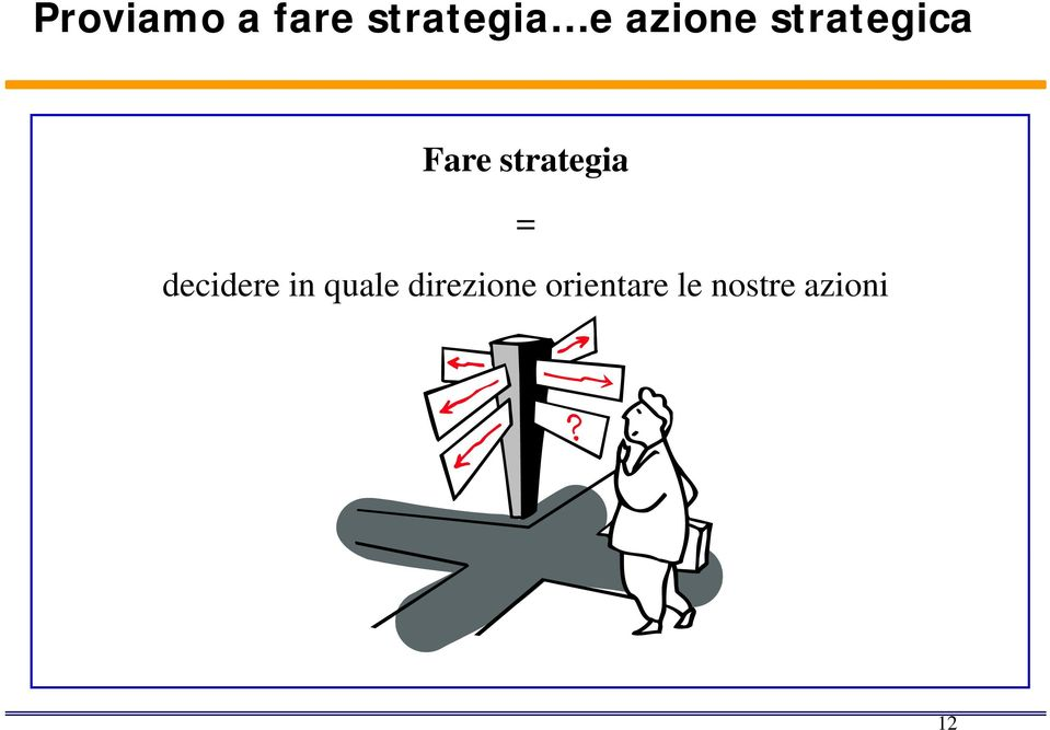 strategia = decidere in quale