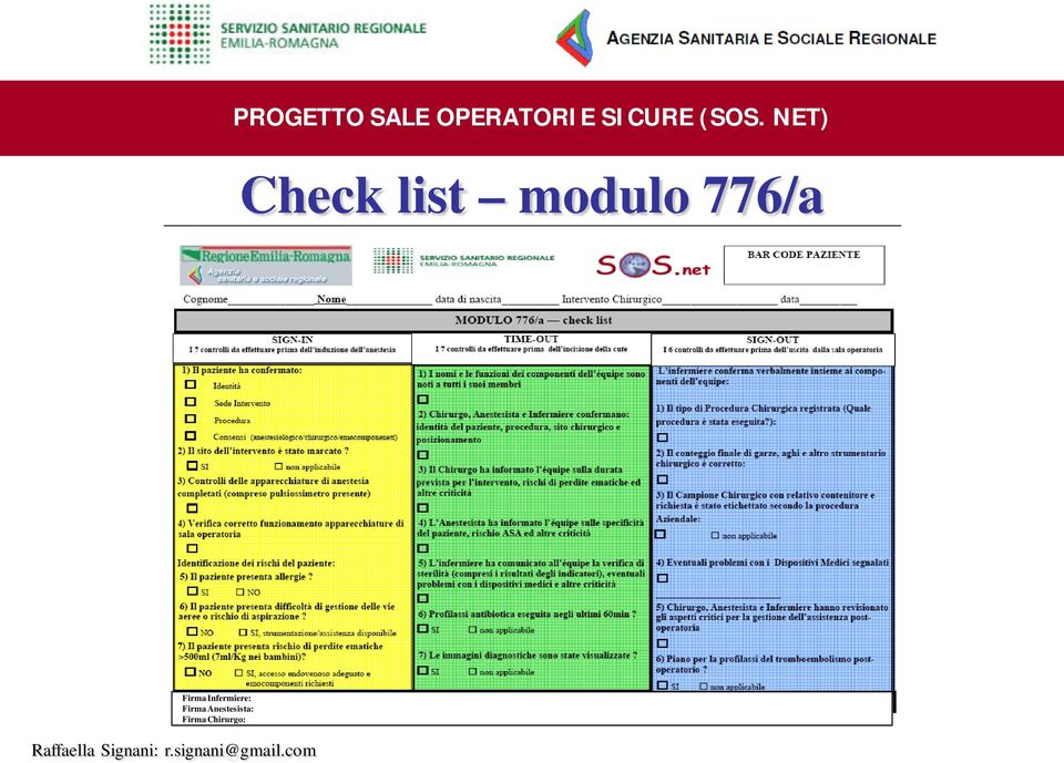 NET) Check list modulo 776/a