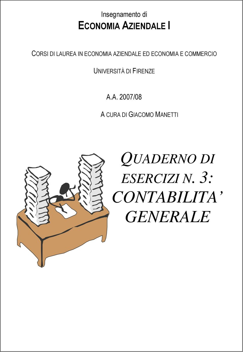 COMMERCIO UNIVERSITÀ DI FIRENZE A.