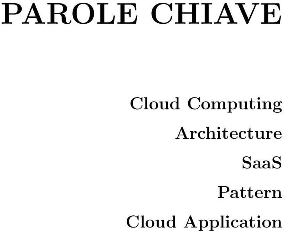 Architecture SaaS
