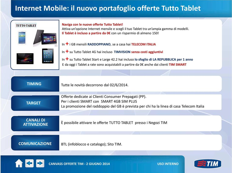 In+iGBmensiliRADDOPPIANO, seacasahaitelecomitalia In +su Tutto Tablet 4G hai incluso TIMVISION senza costi aggiuntivi In +su Tutto Tablet Start e Large 42.