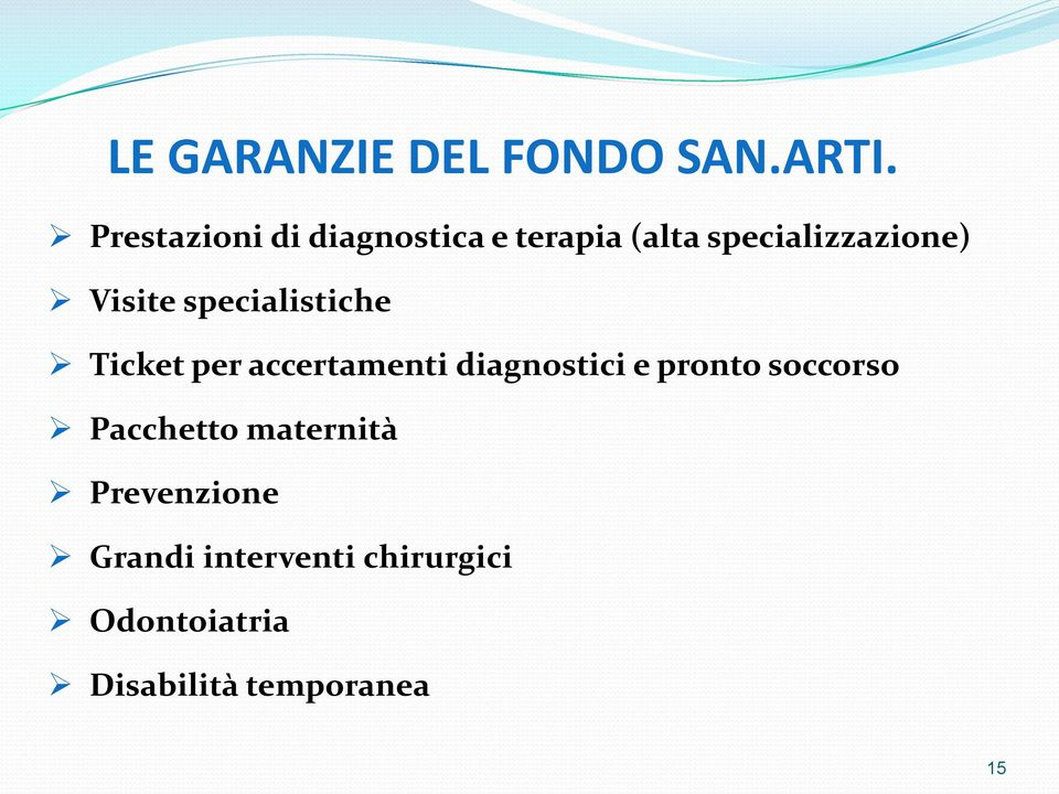 Visite specialistiche Ticket per accertamenti diagnostici e pronto