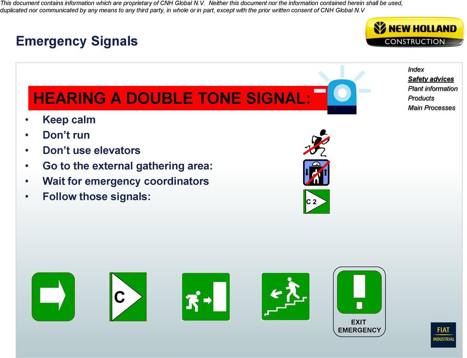 for emergency coordinators Follow those signals: Index Safety