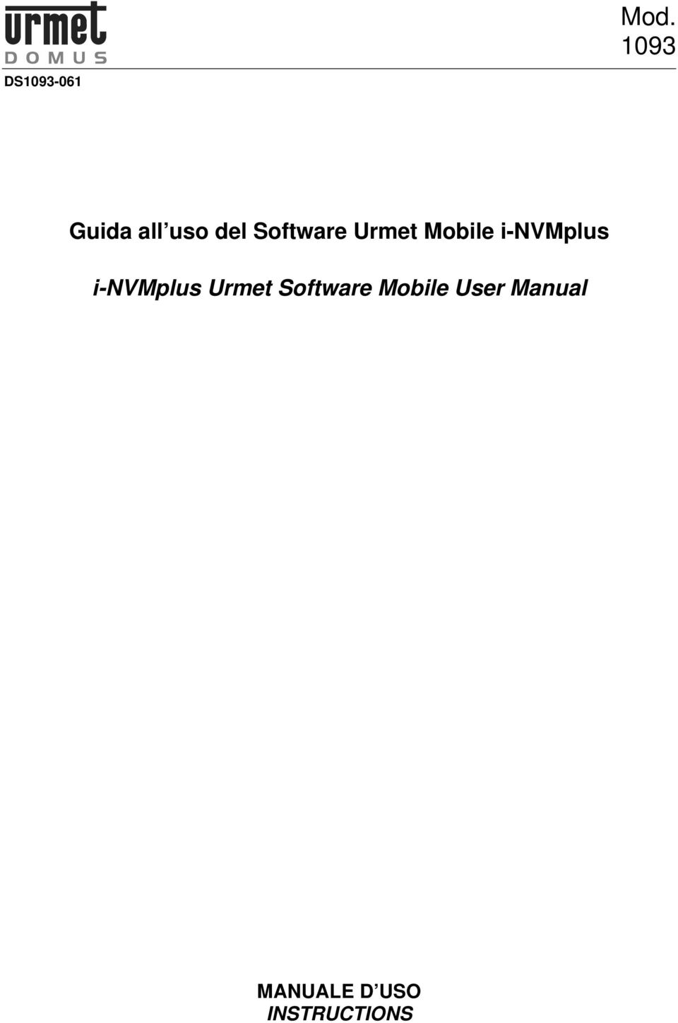i-nvmplus Urmet Software Mobile