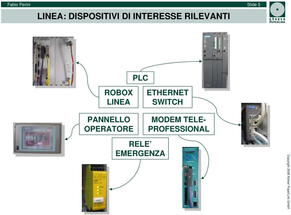 ROBOX LINEA ETHERNET SWITCH PANNELLO