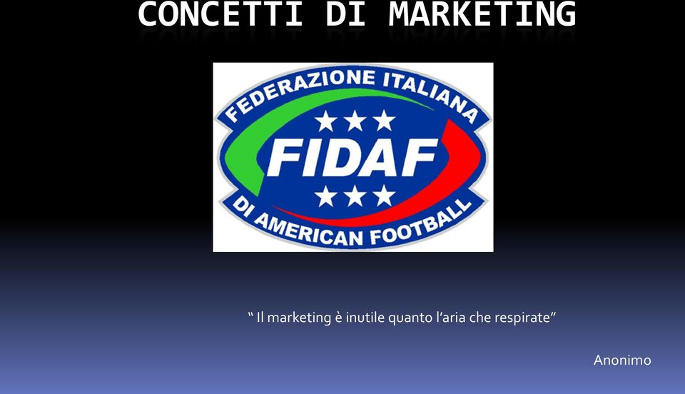 marketing è inutile