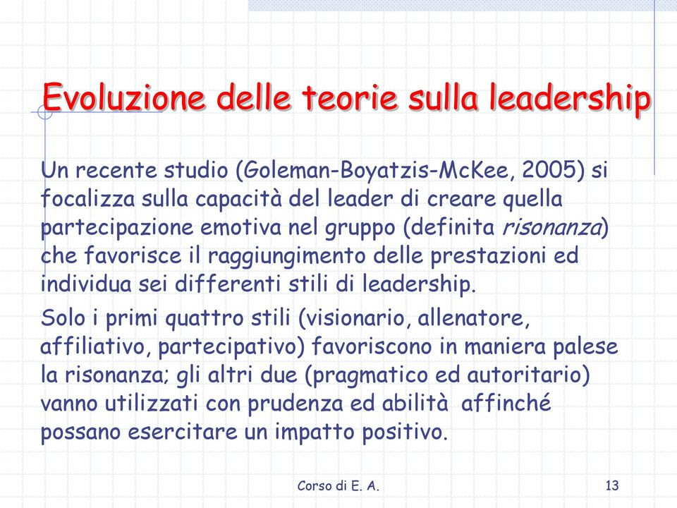 stili di leadership.