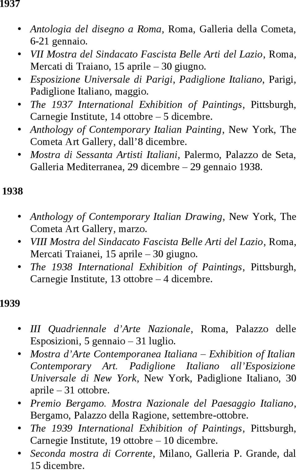 Anthology of Contemporary Italian Painting, New York, The Cometa Art Gallery, dall 8 dicembre.