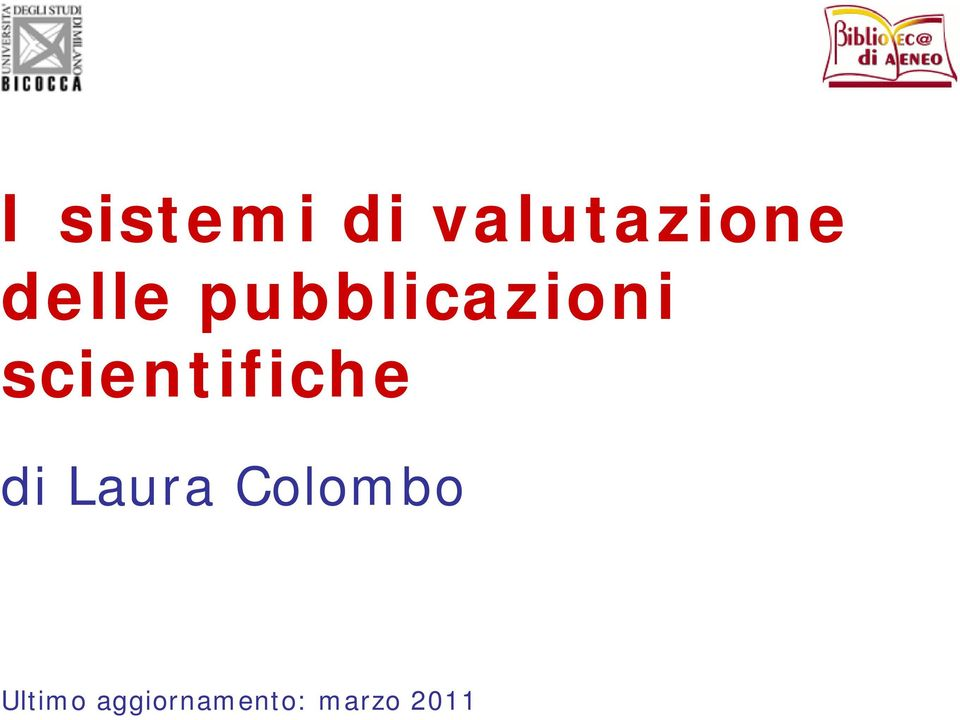scientifiche di Laura