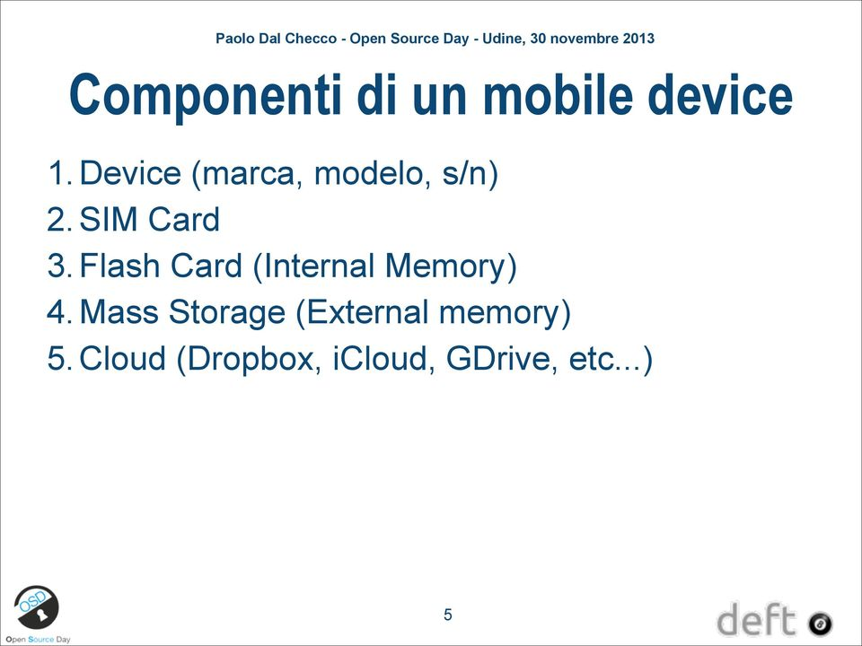 Flash Card (Internal Memory) 4.
