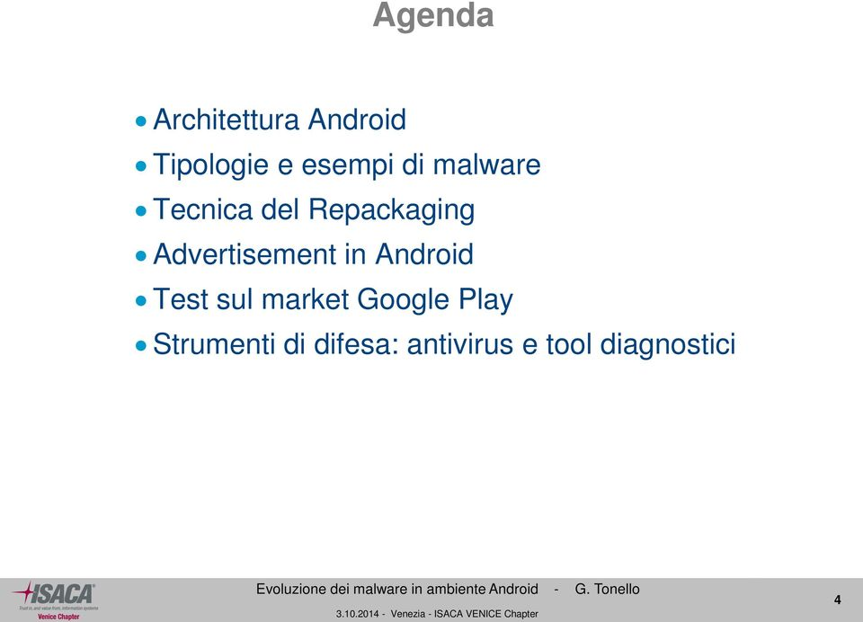 Advertisement in Android Test sul market