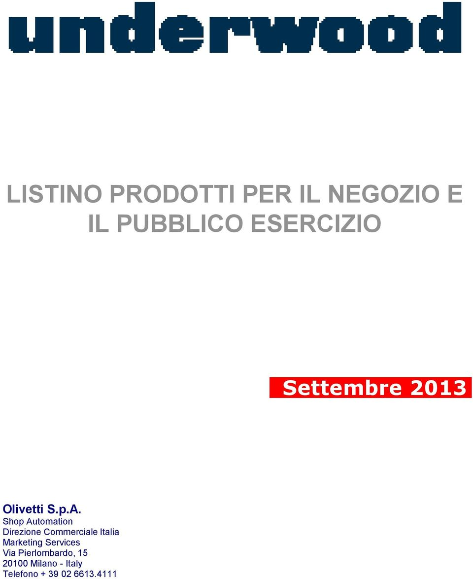 Direzione Commerciale Italia Marketing Services