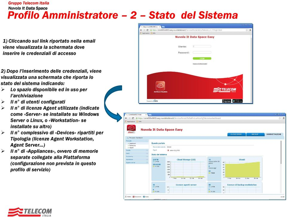 di licenze Agent utilizzate (indicate come «Server» se installate su Windows Server o Linux, o «Workstation» se installate su altro) Il n complessivo di «Devices» ripartiti per