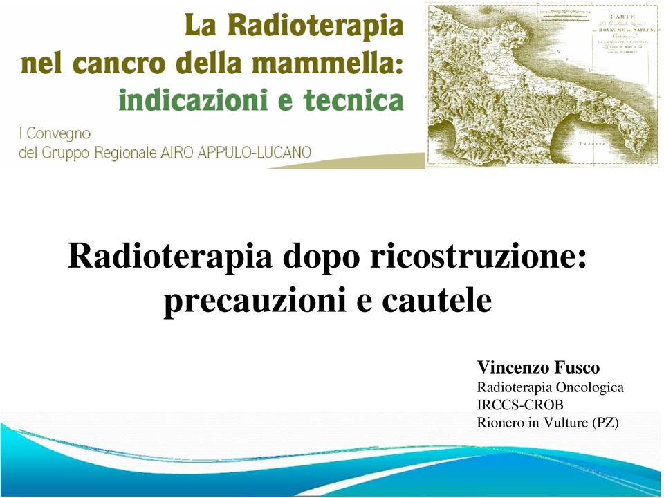 Radioterapia Oncologica IRCCS-CROB