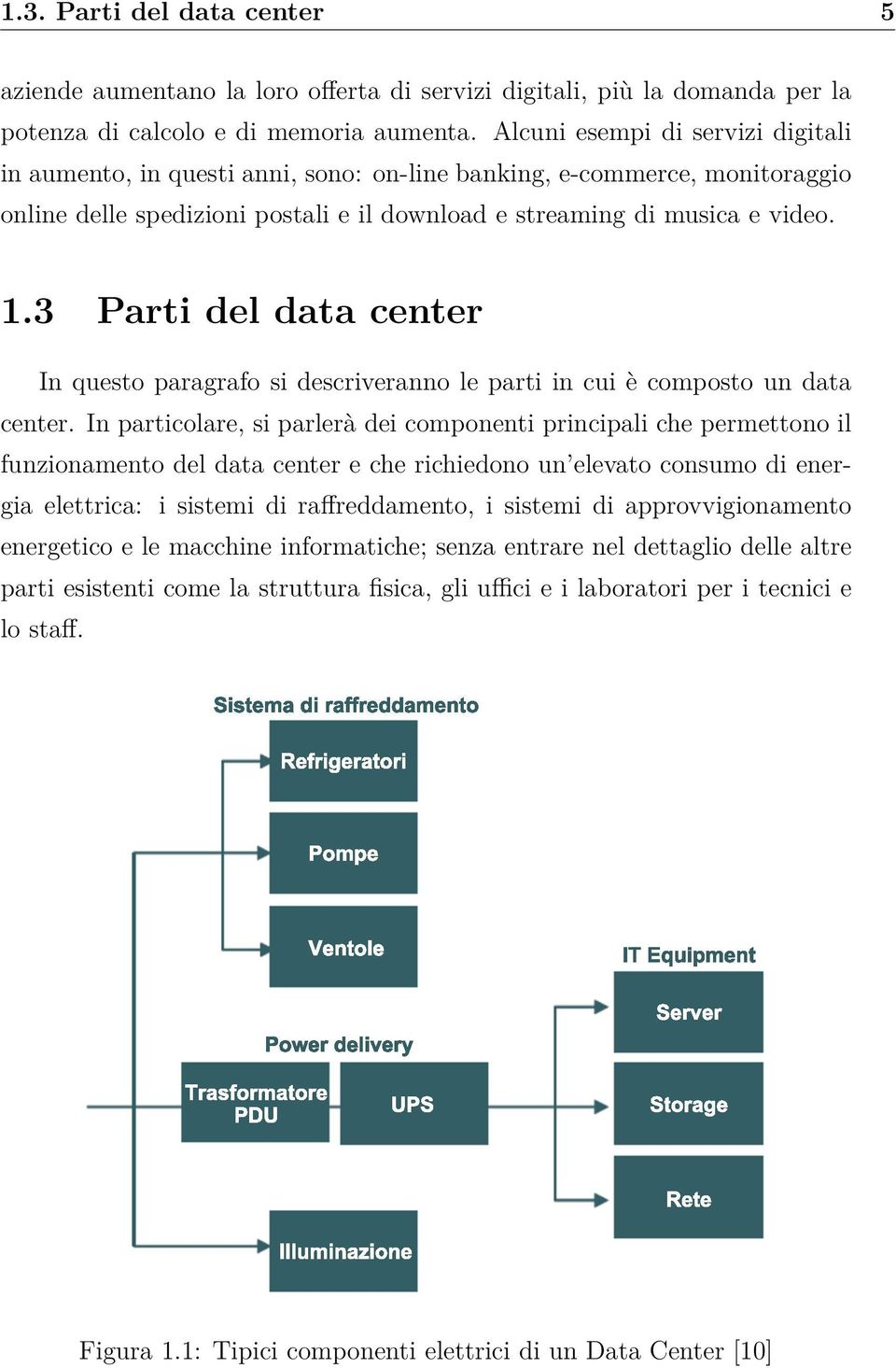 3 Parti del data center In questo paragrafo si descriveranno le parti in cui è composto un data center.