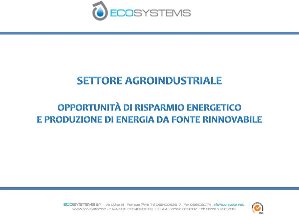 it www.eco-systems.it - P. IVA e C.F.