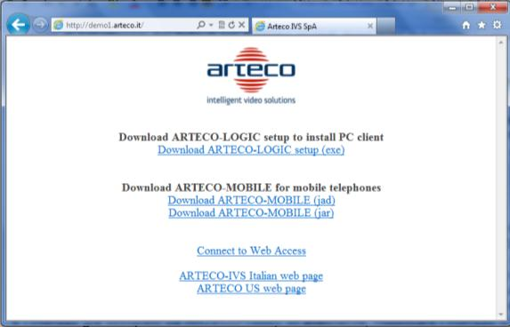 Cap 3 ARTECO-LOGIC L applicativo software ARTECO-LOGIC serve per controllare tutte le funzioni del sistema di videosorveglianza ARTECO-SERVER.