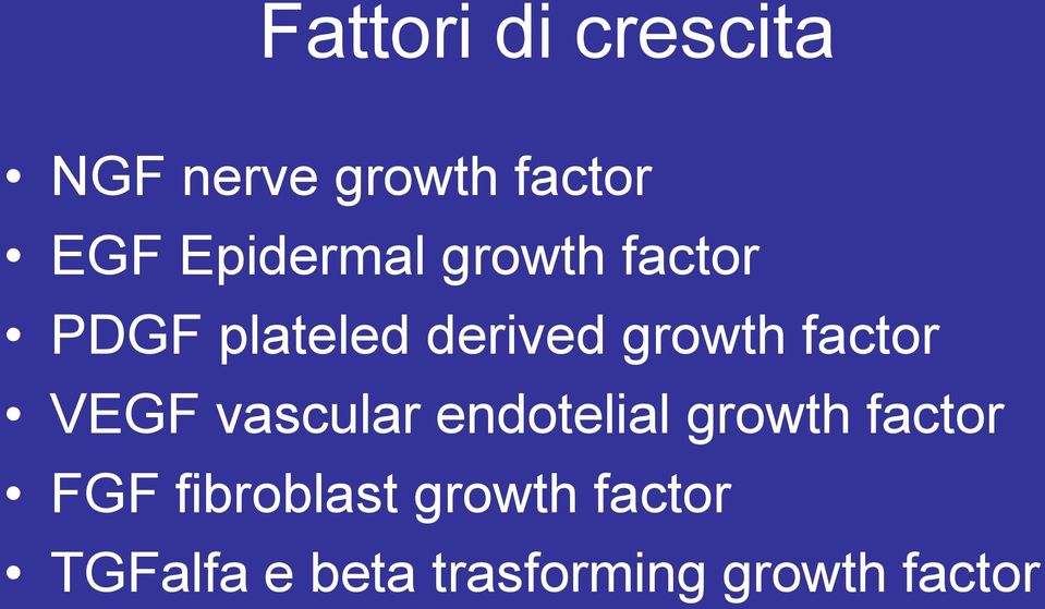 factor VEGF vascular endotelial growth factor FGF
