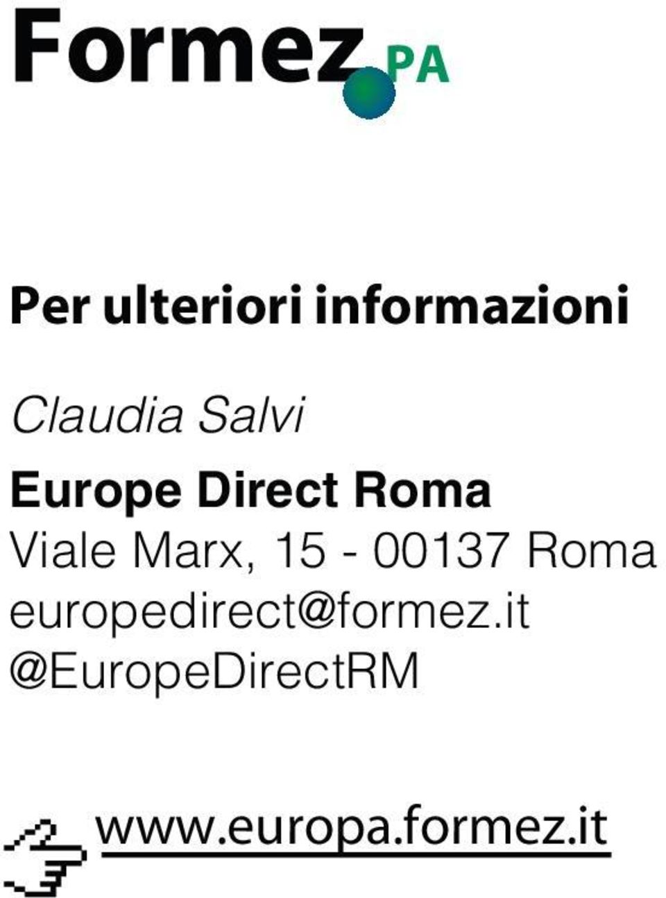 15-00137 Roma europedirect@formez.