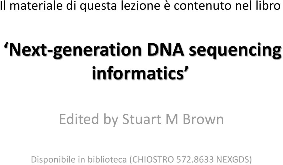 informatics Edited by Stuart M Brown