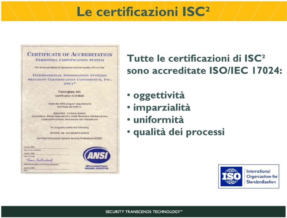 accreditate ISO/IEC 17024: