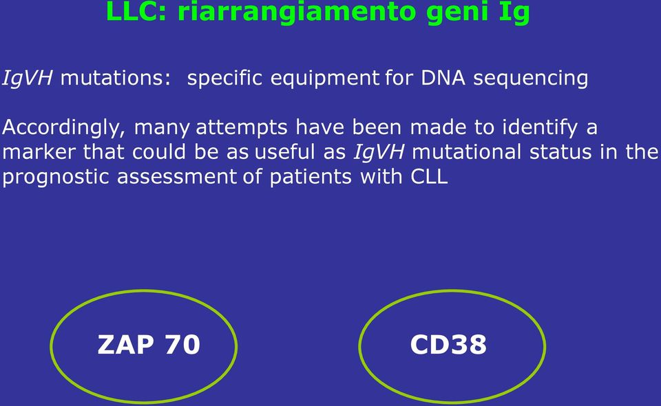 identify a marker that could be as useful as IgVH mutational
