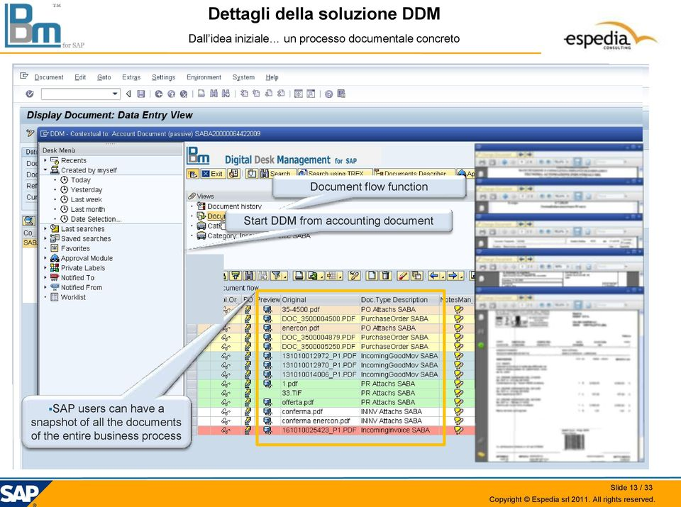 DDM from accounting document SAP users can have a snapshot