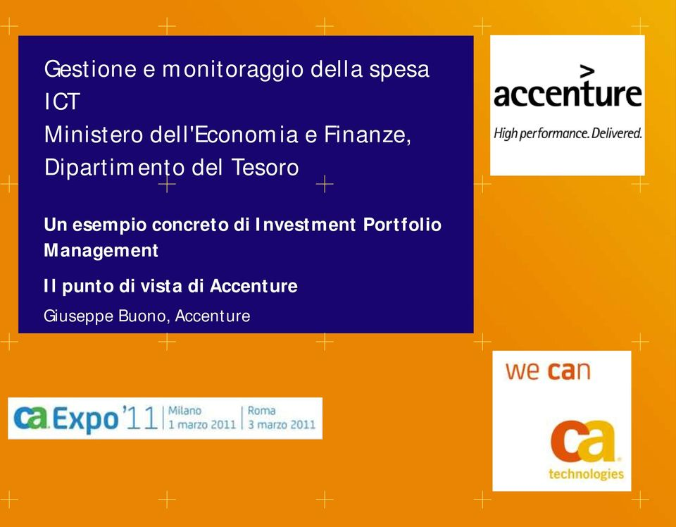 esempio concreto di Investment Portfolio Management