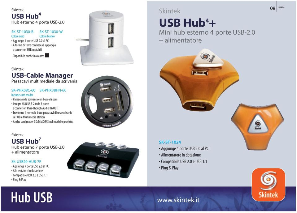 reader Passacavi da scrivania con buco da 6cm Integra HUB USB-2.0 da 3 porte e connettori Pass-Though Audio IN/OUT.