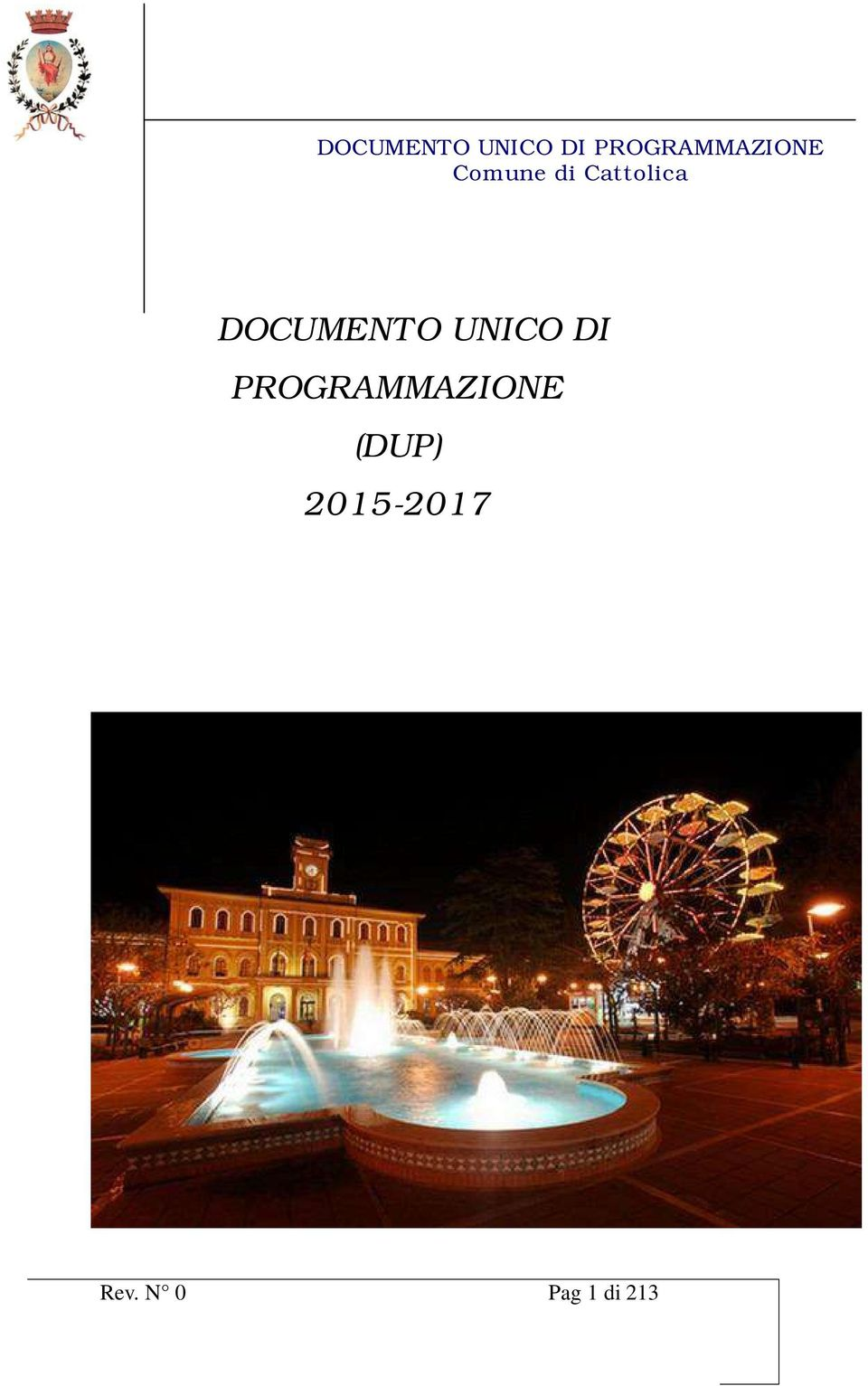 Cattolica DOCUMENTO UNICO DI