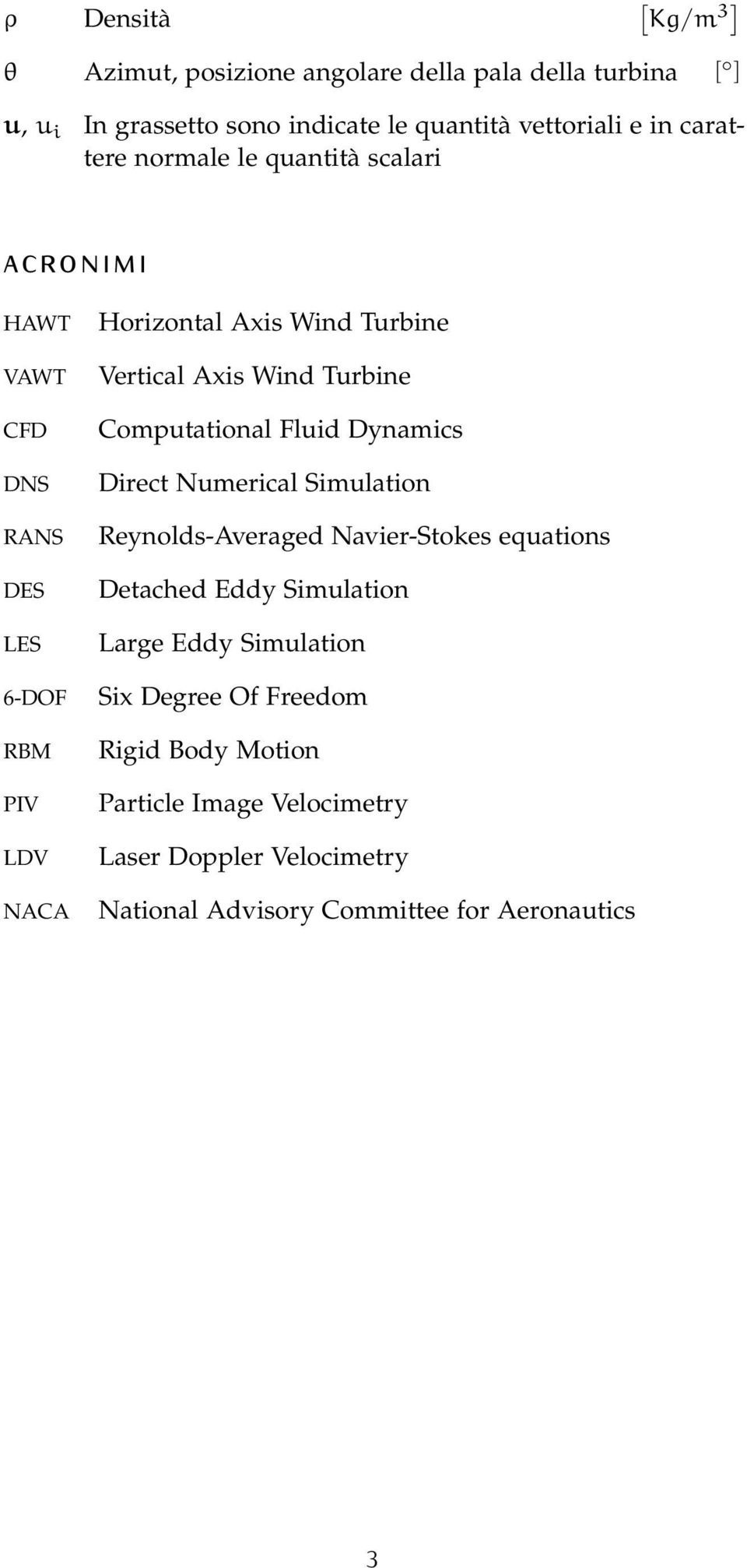 Wind Turbine Computational Fluid Dynamics Direct Numerical Simulation Reynolds-Averaged Navier-Stokes equations Detached Eddy Simulation Large