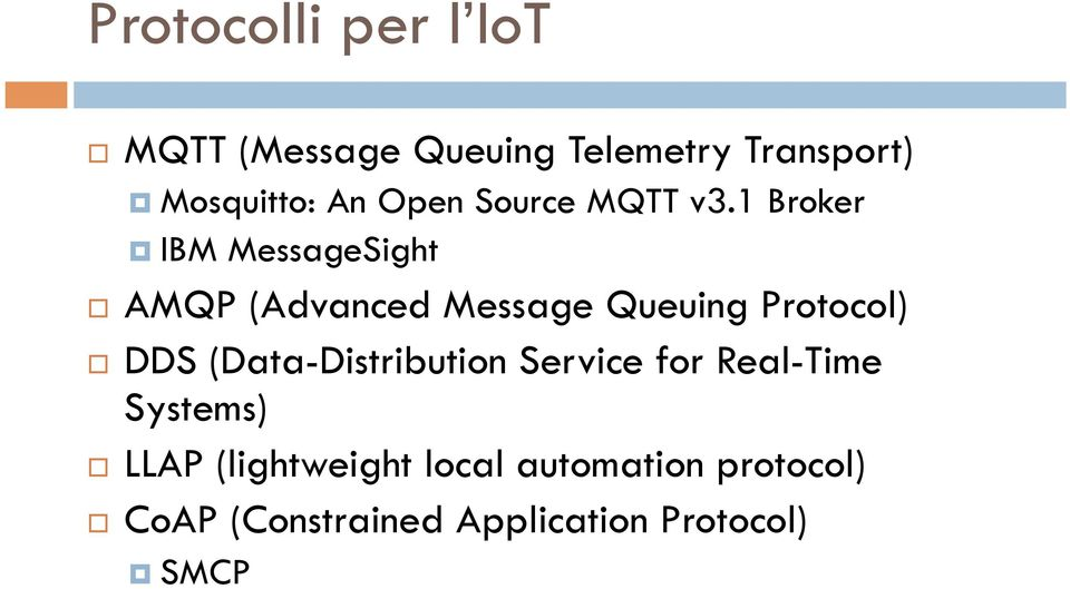 AMQP (Advanced Message Queuing Protocol)!