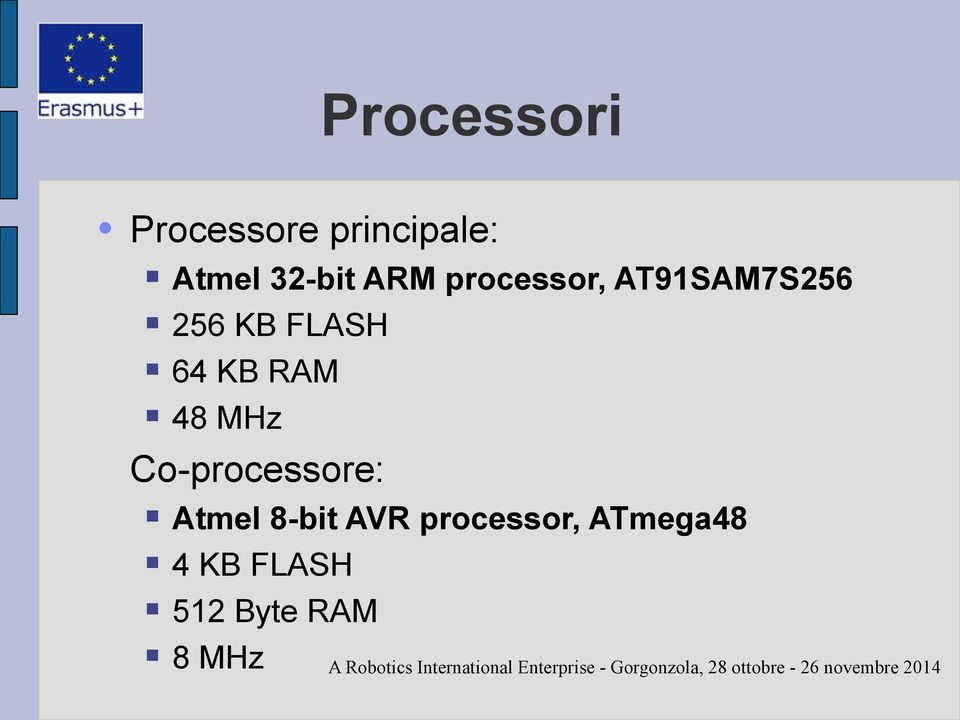 RAM 48 MHz Co-processore: Atmel 8-bit AVR