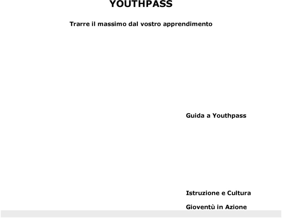 Guida a Youthpass