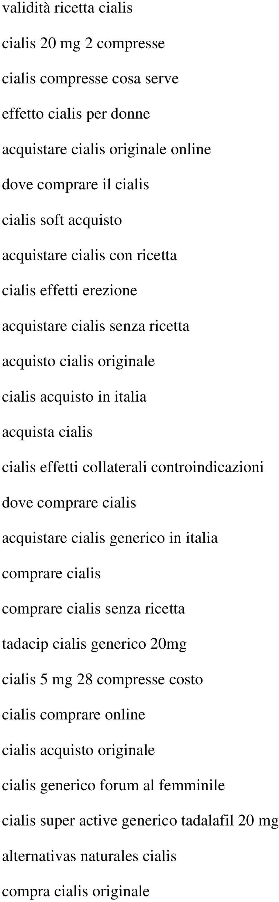 Acquisto cialis on line italia