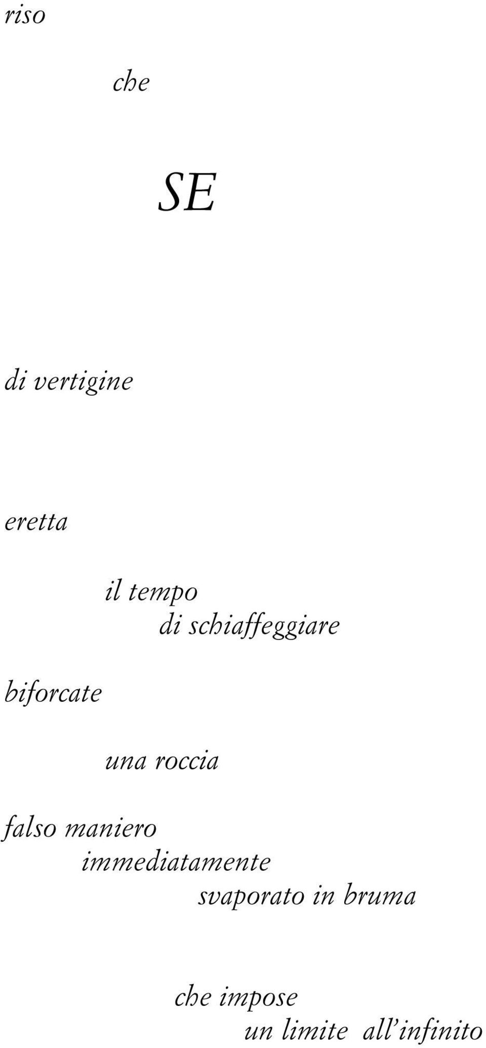 roccia falso maniero immediatamente