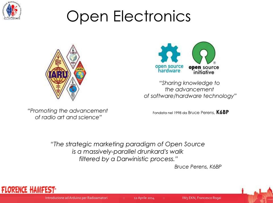 da Bruce Perens, K6BP The strategic marketing paradigm of Open Source is a