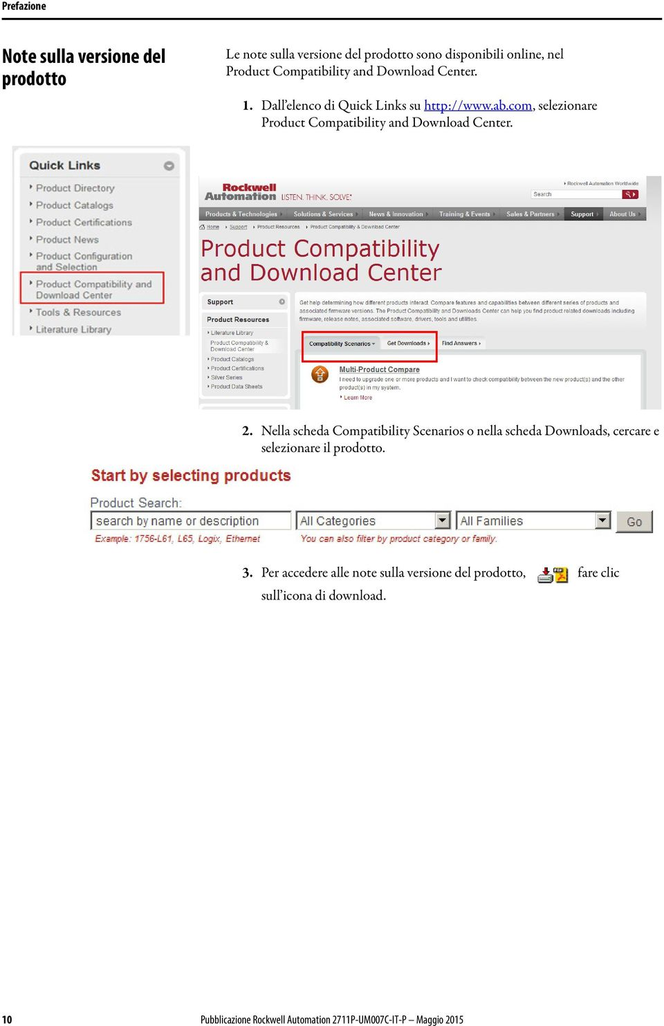 com, selezionare Product Compatibility and Download Center. 2.