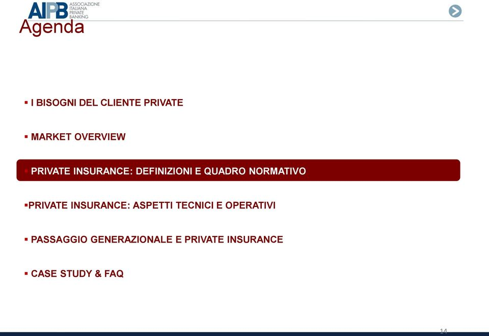 PRIVATE INSURANCE: ASPETTI TECNICI E OPERATIVI
