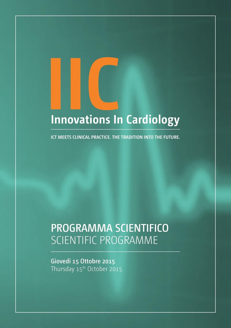 PROGRAMMA SCIENTIFICO SCIENTIFIC PROGRAMME