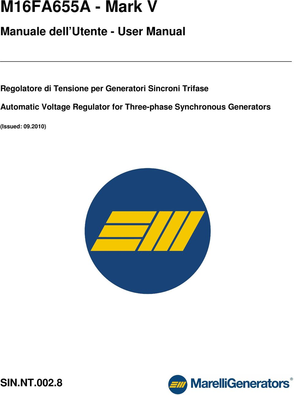 Sincroni Trifase Automatic Voltage Regulator for